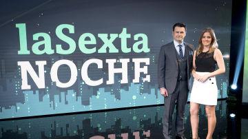Iñaki López y Andrea Ropero en el nuevo plató de laSexta Noche