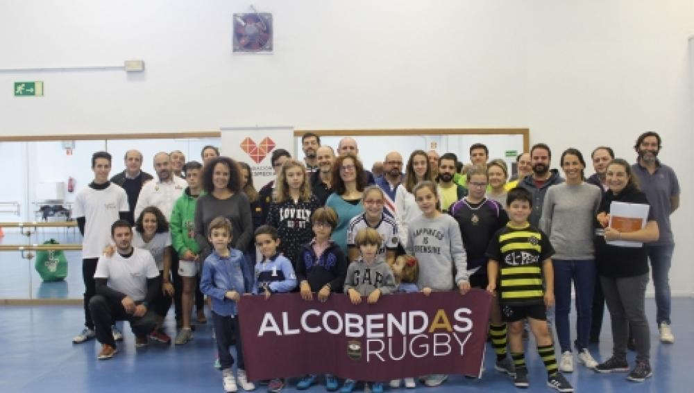 Los empleados de Atresmedia asisten a la jornada de sensibilización 'Rugby Adaptado'