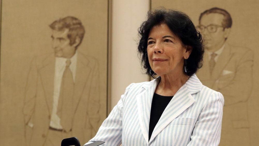 La ministra de Eduación, Isabel Celaá