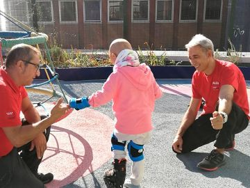 Patinaje adaptado para los niños ingresados en el Hospital 12 de Octubre