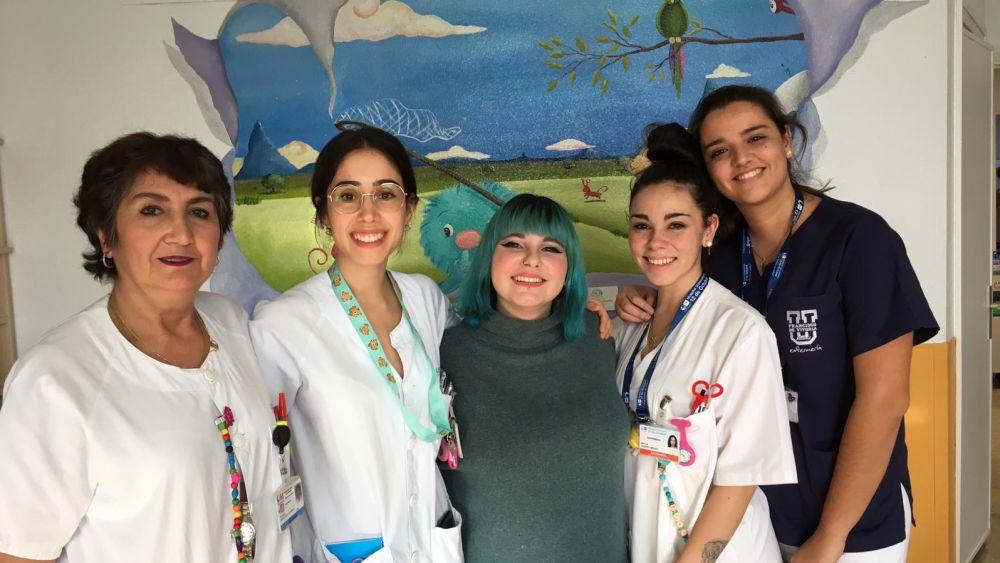 Los niños del Hospital 12 de Octubre pasan una mañana diferente con Marina Jade