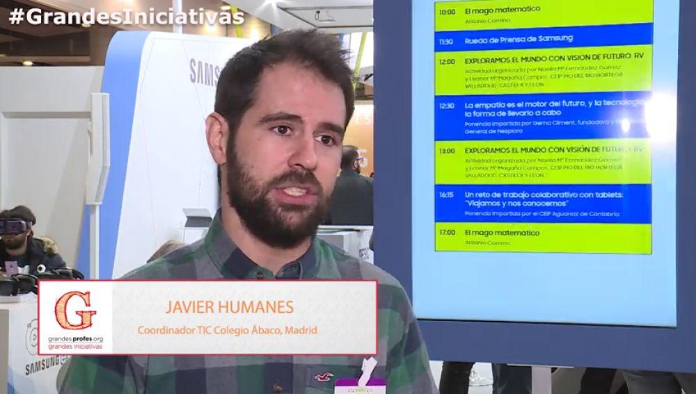 El profesor Javier Humanes explica  la importancia de impulsar nuevos proyectos en los centros educativos.