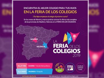 Vuelve la Feria de los Colegios a Madrid y Valencia