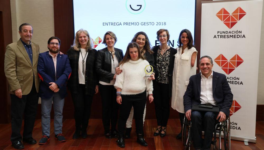 Gracia de Miguel recibe el 'Premio Gesto' 2018 por su labor a favor de las personas con discapacidad