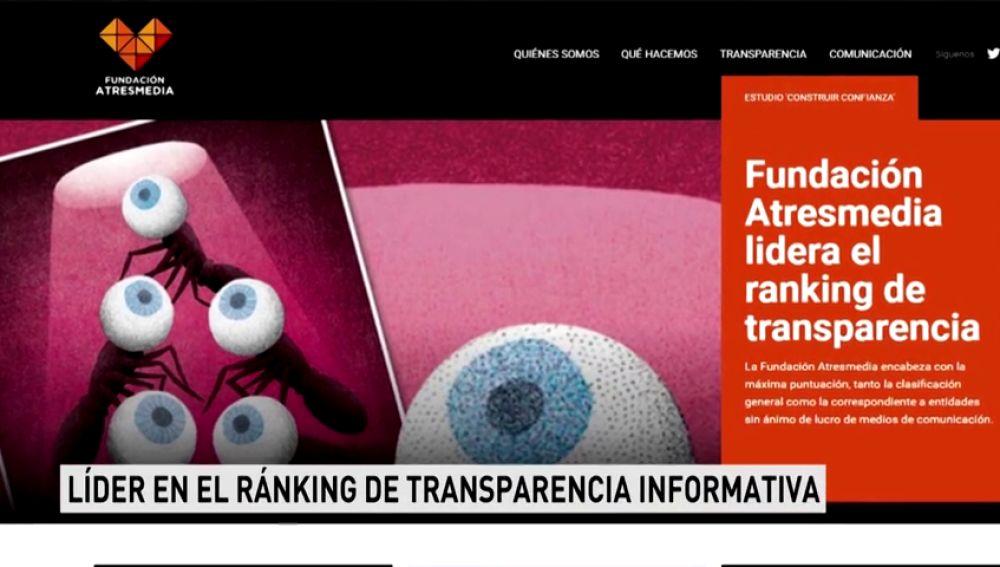 Fundación Atresmedia, líder en el ránking de transparencia informativa
