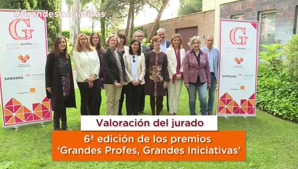 El jurado de los Premios 'Grandes Profes, Grandes Iniciativas' destaca la implicación de los profesores y la variedad de centros presentados