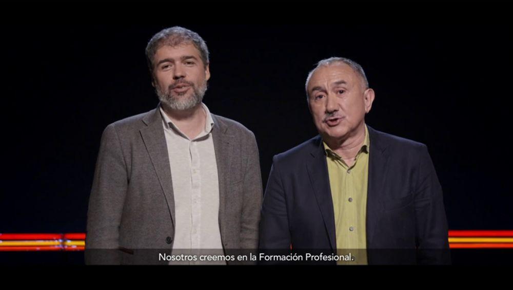 Pepe Álvarez, Secretario General de UGI y Unai Sordo, Secretario General de CCO