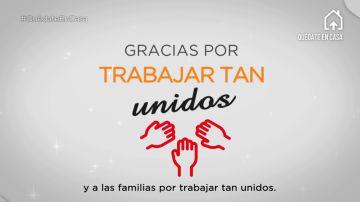 Gracias, profesores y familias, por trabajar tan unidos