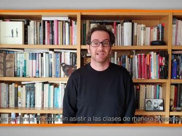Mensajes para agradecer a profesores y familias: Carlos Magro