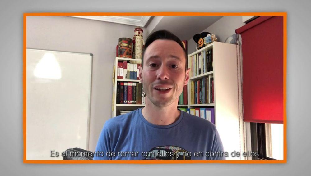 Mensajes para agradecer a profesores y familias: Pedro Martínez