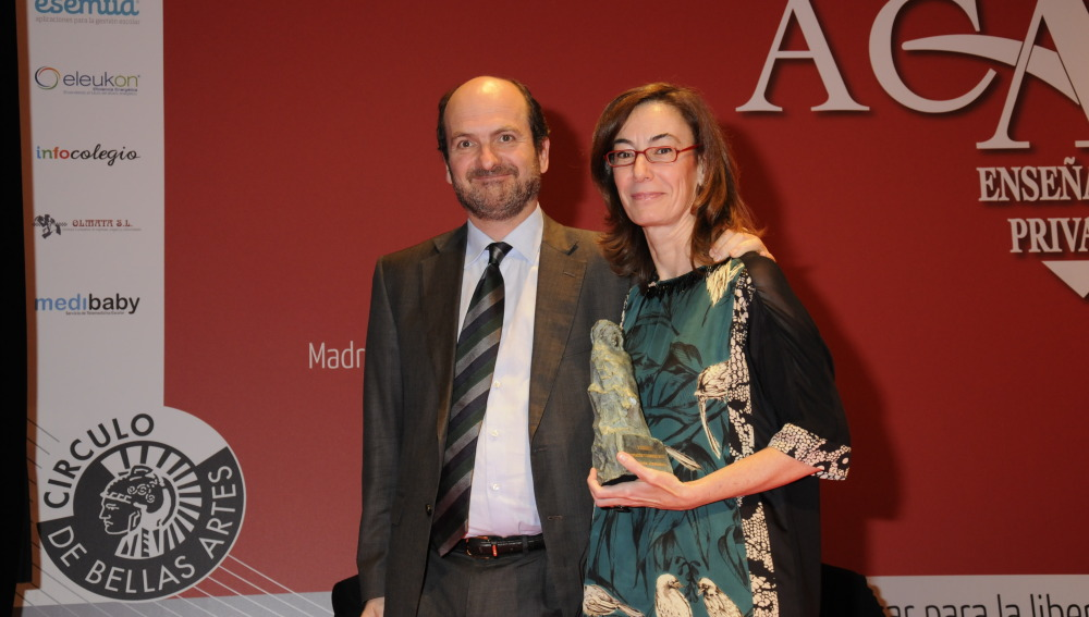 Carmen Bieger en los premios FUNDEL