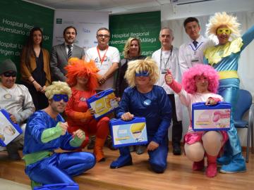 Seis superhéroes llegan a Málaga para ayudar a niños con cáncer