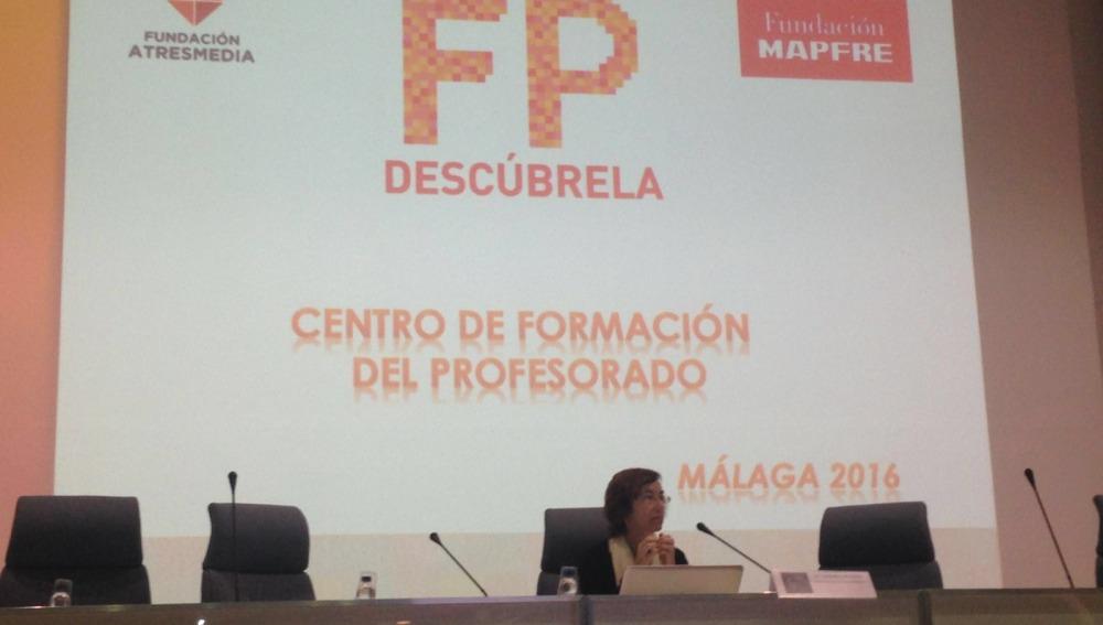 Carmen Bieger en la jornada'Orientación Vocacional y Profesional  en el Sistema Educativo'
