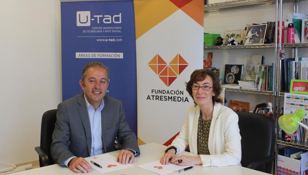 La Fundación ATRESMEDIA y el Centro Universitario U-tad alcanzan un acuerdo para becar a alumnos con discapacidad en Animación 3D