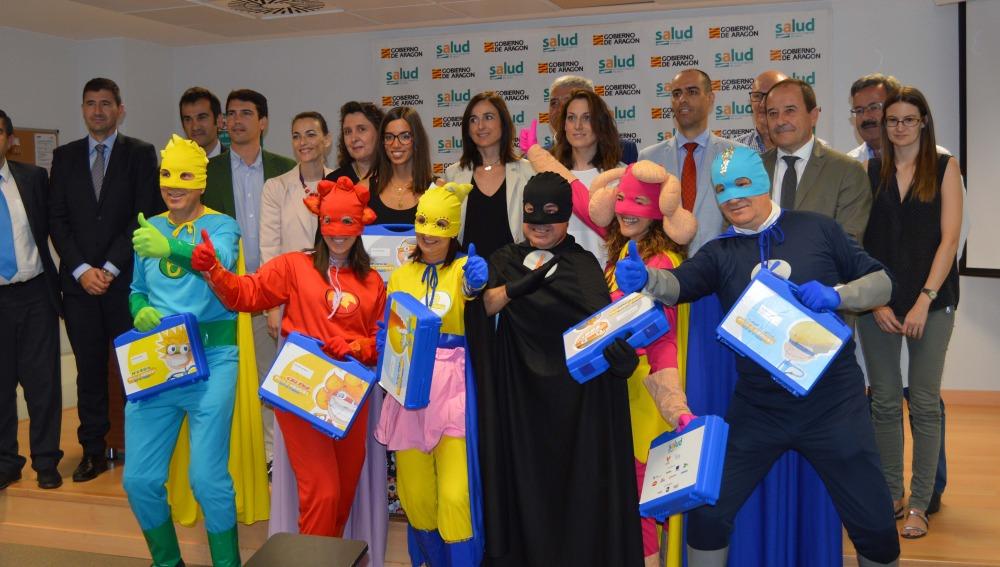 Seis superhéroes llegan a Zaragoza para ayudar a niños con cáncer