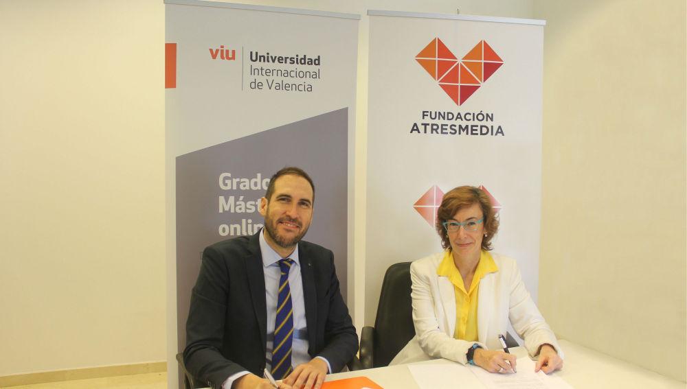 Firma del convenio entre Fundación Atresmedia y Universidad Internacional de Valencia