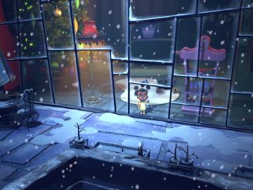 na alumna del Proyecto PRO, en el equipo creativo del corto de animación  `Vs Santa'