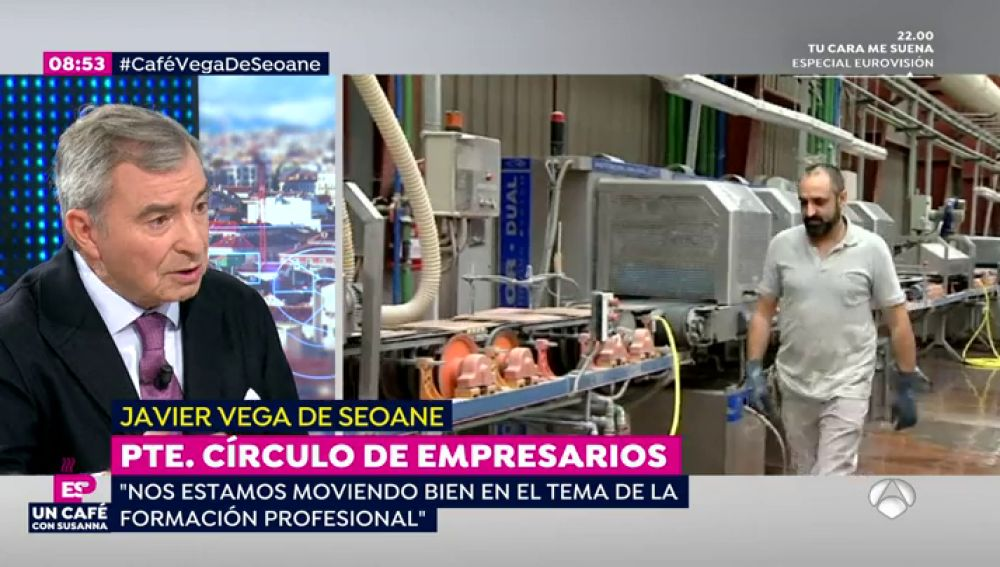 """Javier Vega de Seoane, presidente del Círculo de Empresarios: """"Nos estamos moviendo bien el tema de la FP"""""""