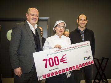 Una alumna del Instituto ULHI gana el concurso de cocina organizado por Fundación HAZI