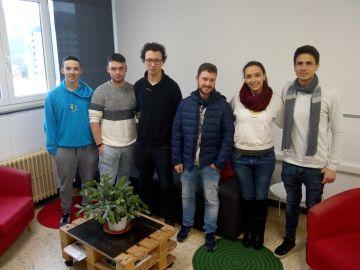 Julen Yurramendi, Julen Arruabarrena, Iker Ruzo, Pedro Rodriguez, Andrea Espada y Tibi Benzea
