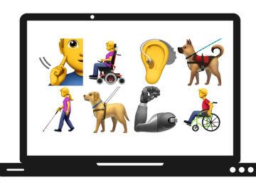Nuevos 'emojis' para representar a personas con discapacidad