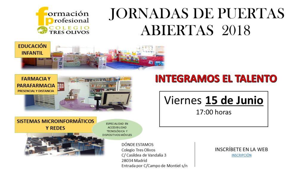 Jornada de puertas abiertas sobre FP en el Colegio Tres Olivos