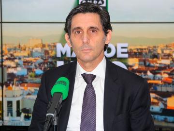 José María Álvarez-Pallete, presidente de Telefónica, durante una entrevista en Onda Cero