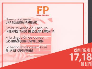 Abierto el casting para la webserie de 'Descubre la FP'