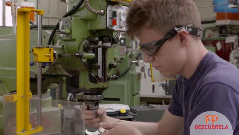 Con la FP me convertiré en un profesional de la fabricación mecánica