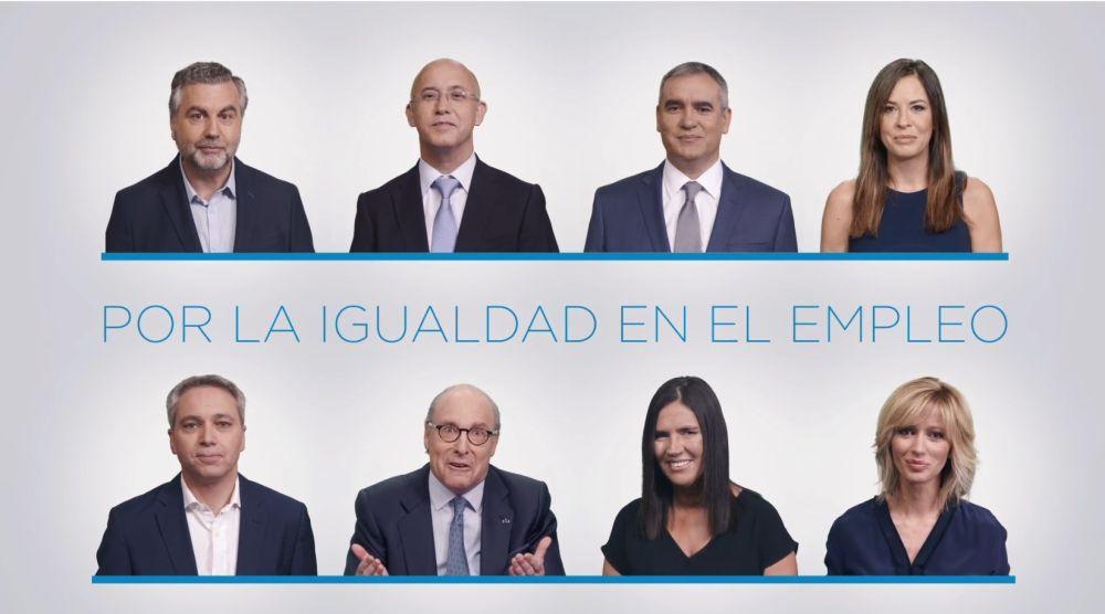 Periodistas de Atresmedia y profesionales con discapacidad, juntos 'Por la igualdad en el empleo'
