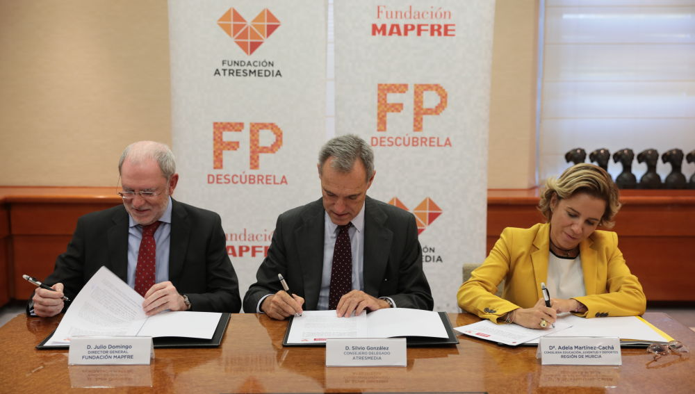 La Fundación Atresmedia y Fundación Mapfre suman fuerzas con la Región de Murcia para impulsar la Formación Profesional