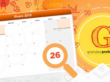 El encuentro '¡Grandes Profes!' tendrá lugar el próximo 26 de enero