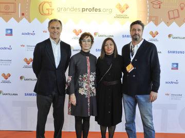 Silvio González (Atresmedia), Carmen Bieger (Fundación Atresmedia),  Rosa Junquera (Santillana), José Luis Escudero (Santillana)