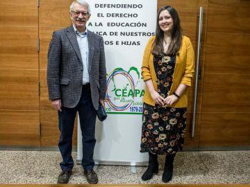 Alejandro Tiana, secretario de Estado de Educación y Formación Profesional y Alicia Aguado, Fundación Atresmedia