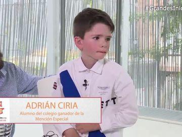 Adrián Ciria, alumno del centro ganador de la Mención Especial en 'Grandes Profes, Grandes Iniciativas', cuenta su experiencia