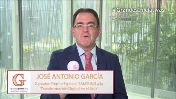 """José Antonio García: """"Tienes que dar a conocer tu iniciativa, el premio te está esperando"""""""