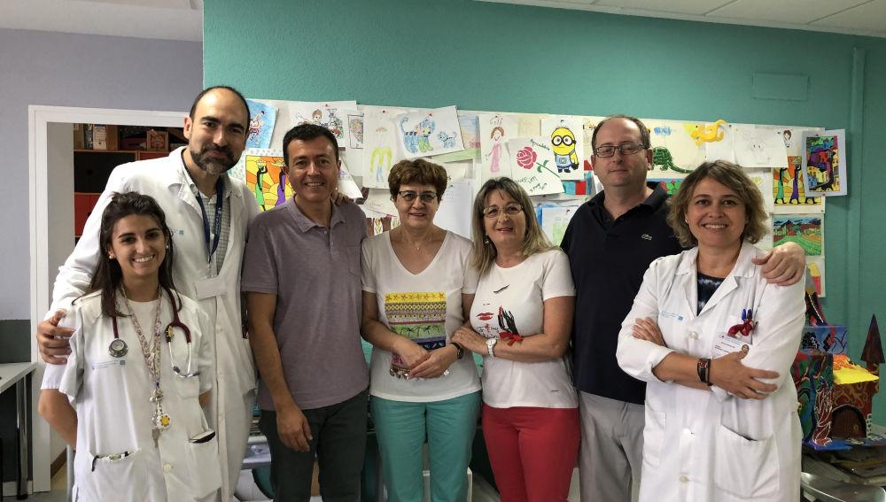 Manu Sánchez visita el Hospital 12 de Octubre