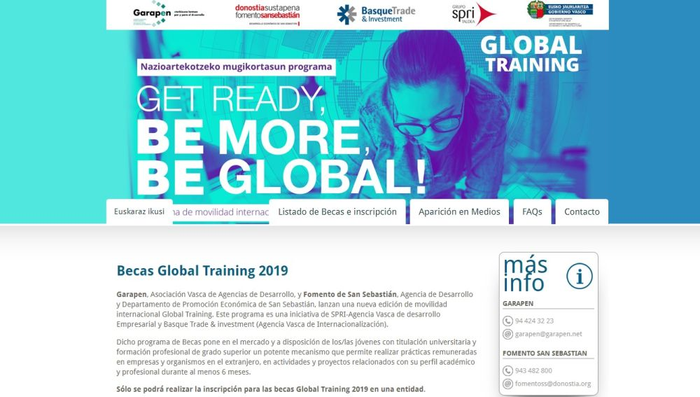 Becas Global Training 2019