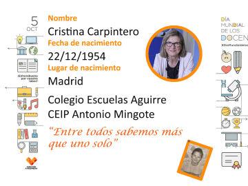 Conoce a Cristina, maestra en el Colegio Escuelas Aguirre