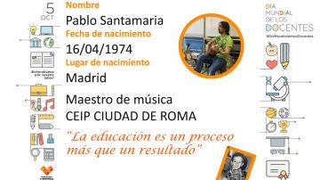 Conoce a Pablo, maestro de música en el CEIP Ciudad de Roma