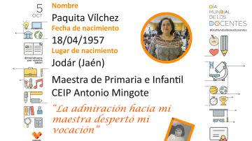 Conoce a Paquita, maestra en el CEIP Antonio Mingote