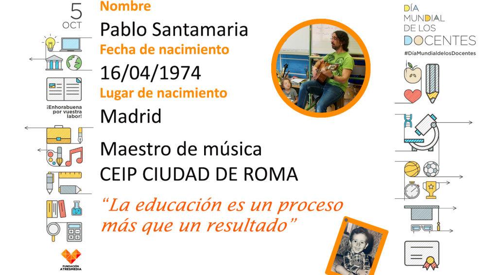 Conoce a Pablo, profe de música