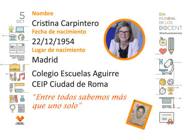 Cristina ha sido profe de ciencias en inglés