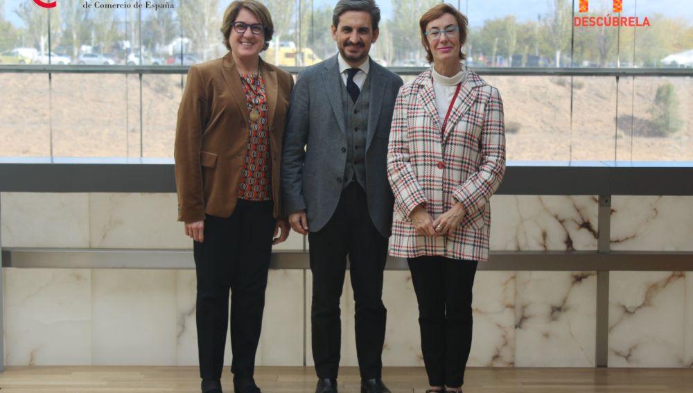 Inmaculada Riera, Daniel Restrepo y Carmen Bieger