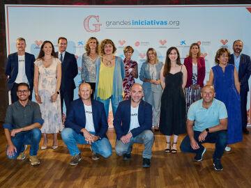 Premiados, Partners y Sara Escudero en la Entrega de los Premios Grandes Iniciativas